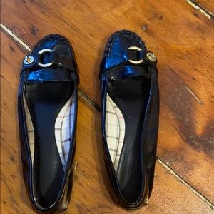 Coach Black Patent Leather Loafers.